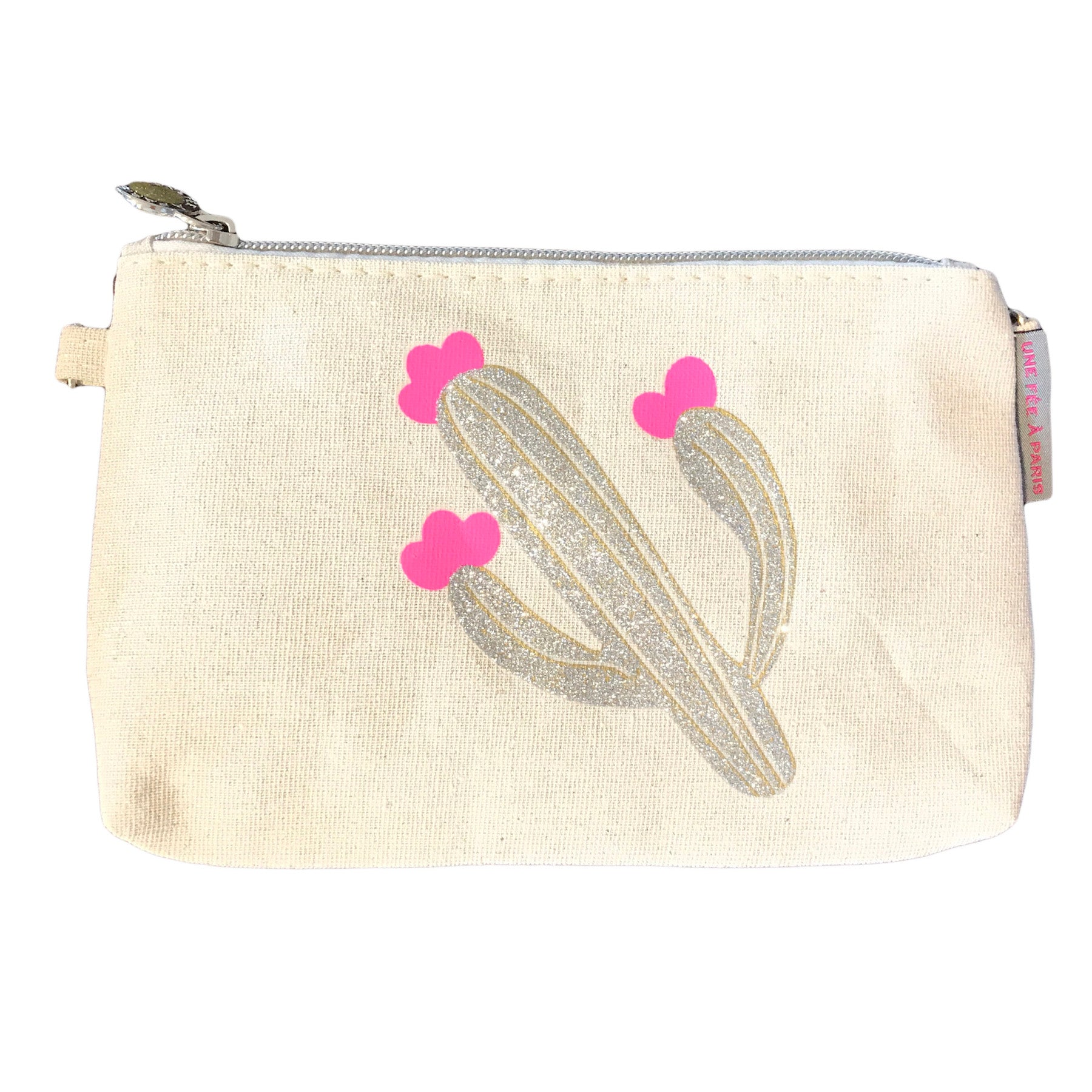Cactus Canvas Pouch or Cross Body Bag | Une Fee A Paris (France)