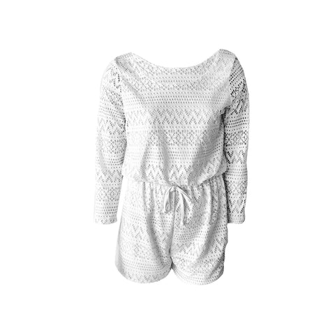 We are in love this with this long sleeve cream crochet romper by Cheryl Creations. Great for Spring when the nights are still cool !! This romper looks gorgeous with a nice pair or sandals or wedges