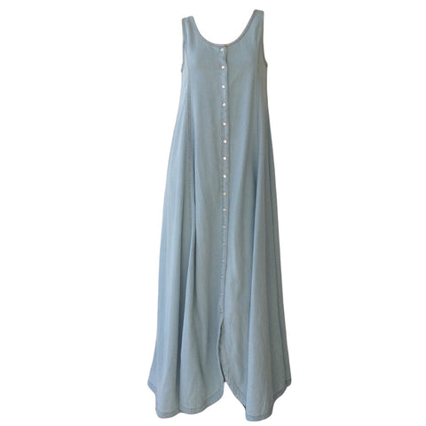 Sleeveless Denim Maxi | Feather Drum (Australia)