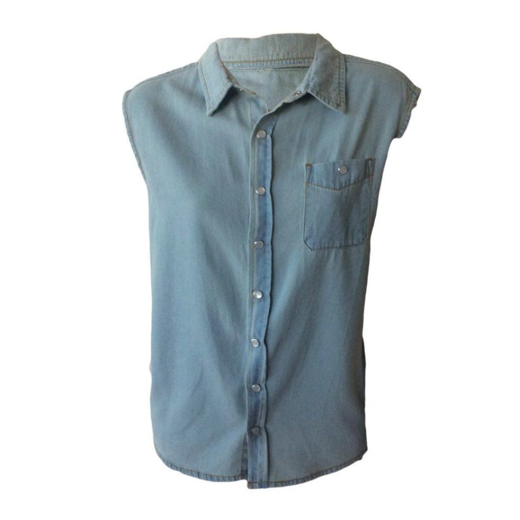 Sleeveless Denim Shirt | Feather Drum (AUS)