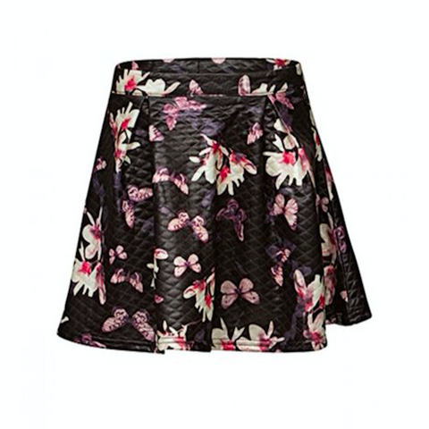 Floral Nights Skirt | Indian Blue (Netherlands)
