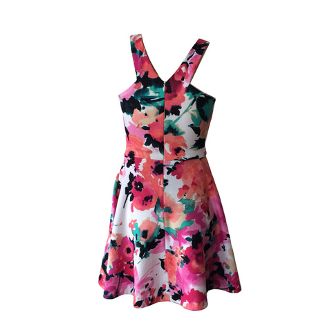 Multi Floral Party Dress | Aqua (USA) - SIZE XS (10) ONLY