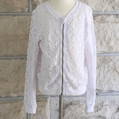 TAHLIA by minihaha, santa monica lace jacket, white lace jacket