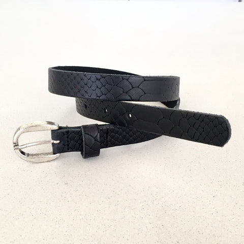 Black Snake Skin Belt | Kidzzbelts (Netherlands)