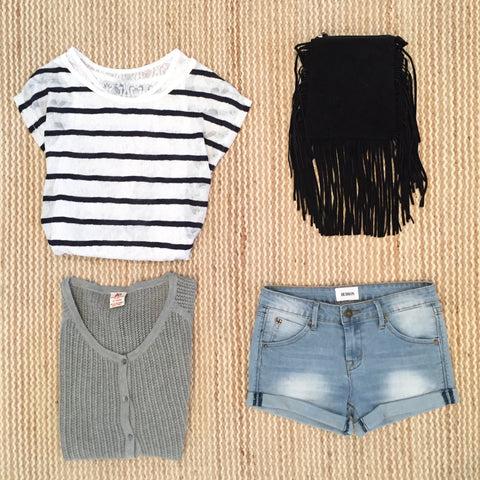 717, Seven one seven, stripe lace tee, teen fashion