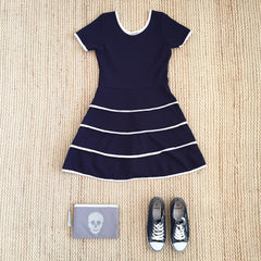 Cheryl Creations, US brand, Parisian sailor dress, navy sailor dress