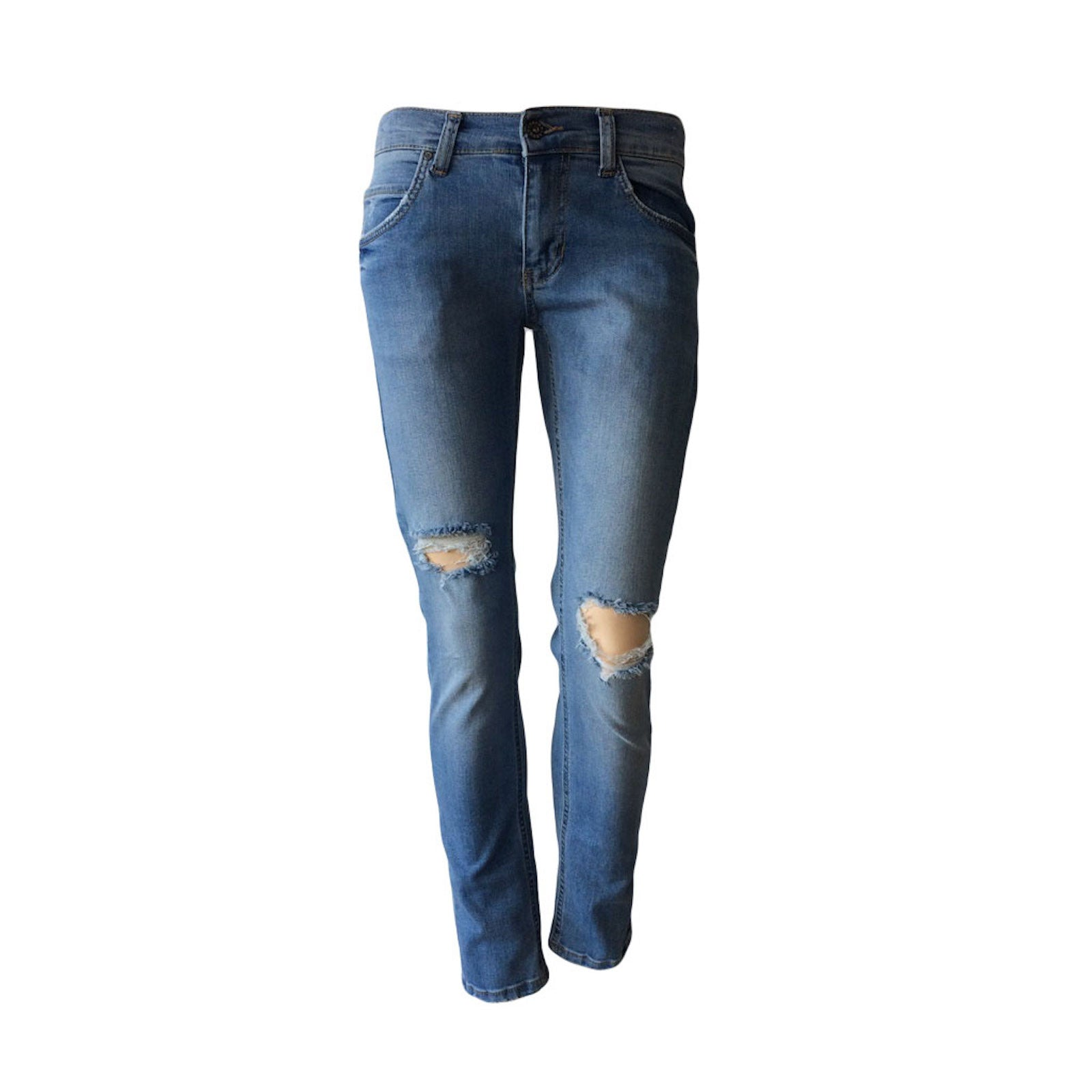 Designed to be worn a little relaxed these distressed jeans by Danish brand Grunt feel great on. The Space Damage Jeans will be your new spring/summer denim go-to