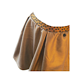 Gold Skater Skirt | Indian Blue (Netherlands)