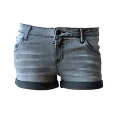 Ether Black Rolled cuff short, black denim shorts, hudson denim shorts