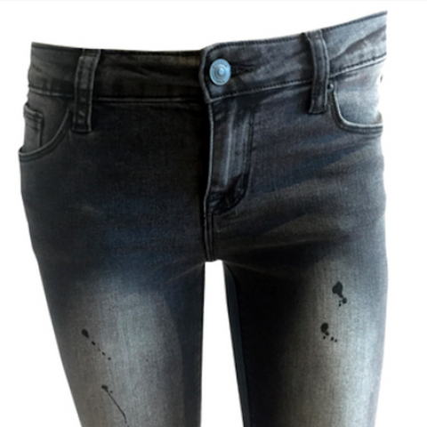 Black roc distressed Jean, Black skinny jeans, Distressed Skinny Jeans, Hudson Jeans, Teen fashion