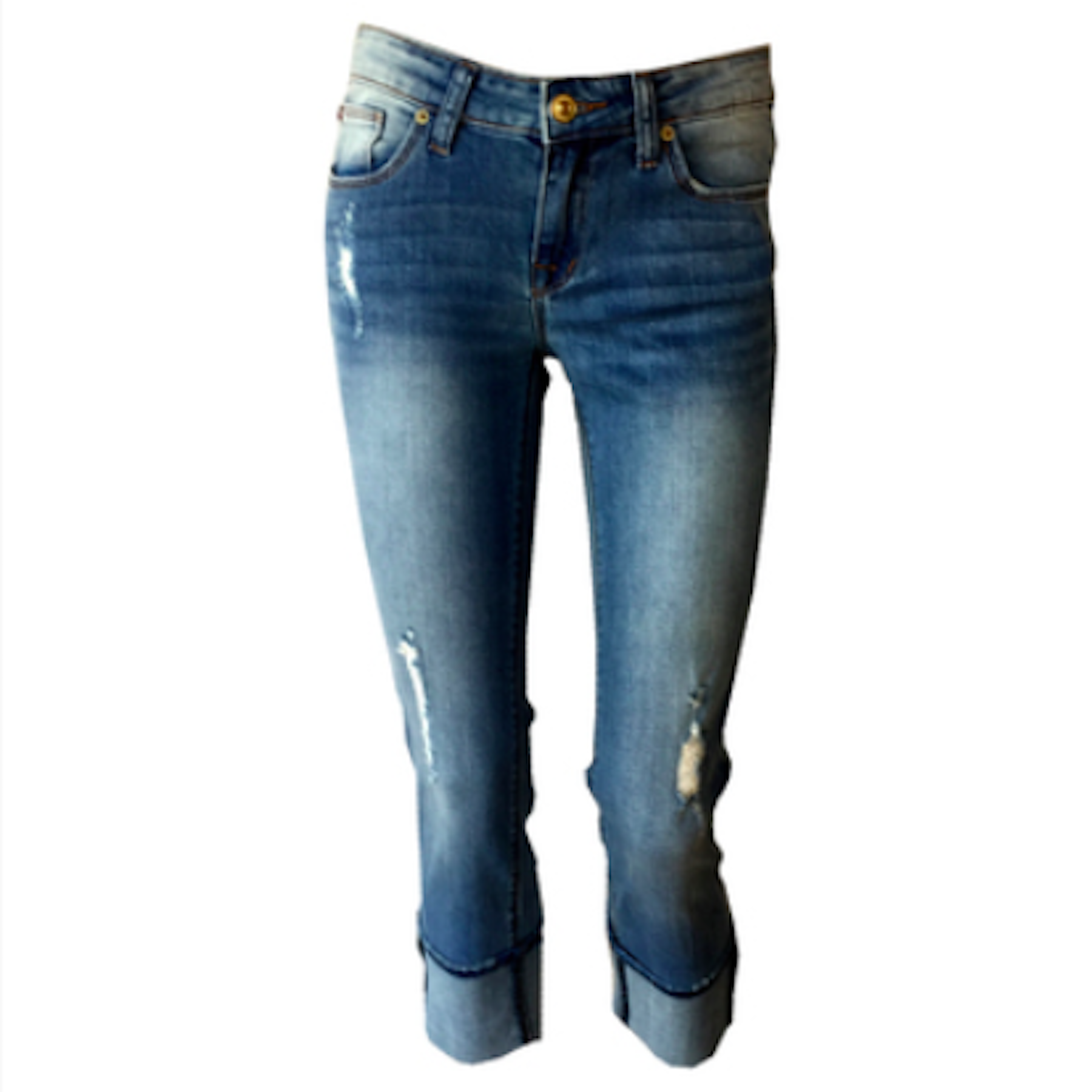 Ginny blasted blue cropped jean, blue cropped jeans, hudson jeans, teen fashion