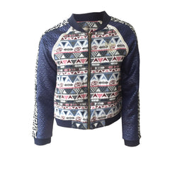 Aztec Bomber Jacket, Aztec Jacket, Girls Bomber Jacket, Indian Blue, Teen Fashion