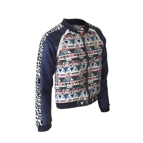 Aztec Bomber Jacket | Indian Blue (Netherlands)