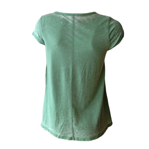 Emerald Green Vintage Wash Tee | Me.N.U (New York) - SIZE XL (16) ONLY