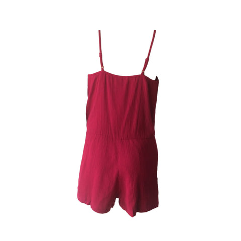 The Vivid Burgundy Playsuit | Oh Soleil (Spain)