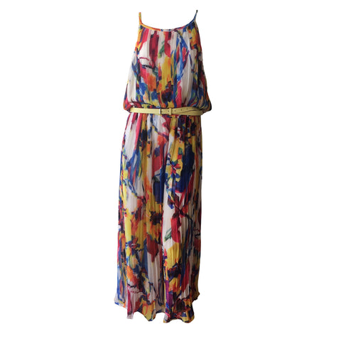 The Fantasy Jumpsuit by Fun + Fun is one of a kind.  Disguised as maxi dress, this beautiful teen jumpsuit is made of viscose making it a stunning piece to look at and to b worn.