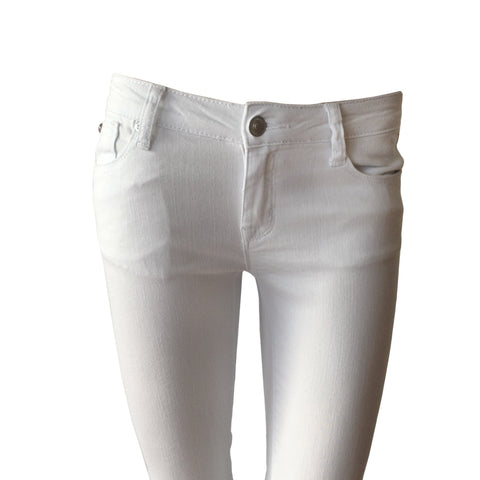 Ginny White Cropped Flap Jean | Hudson (USA)