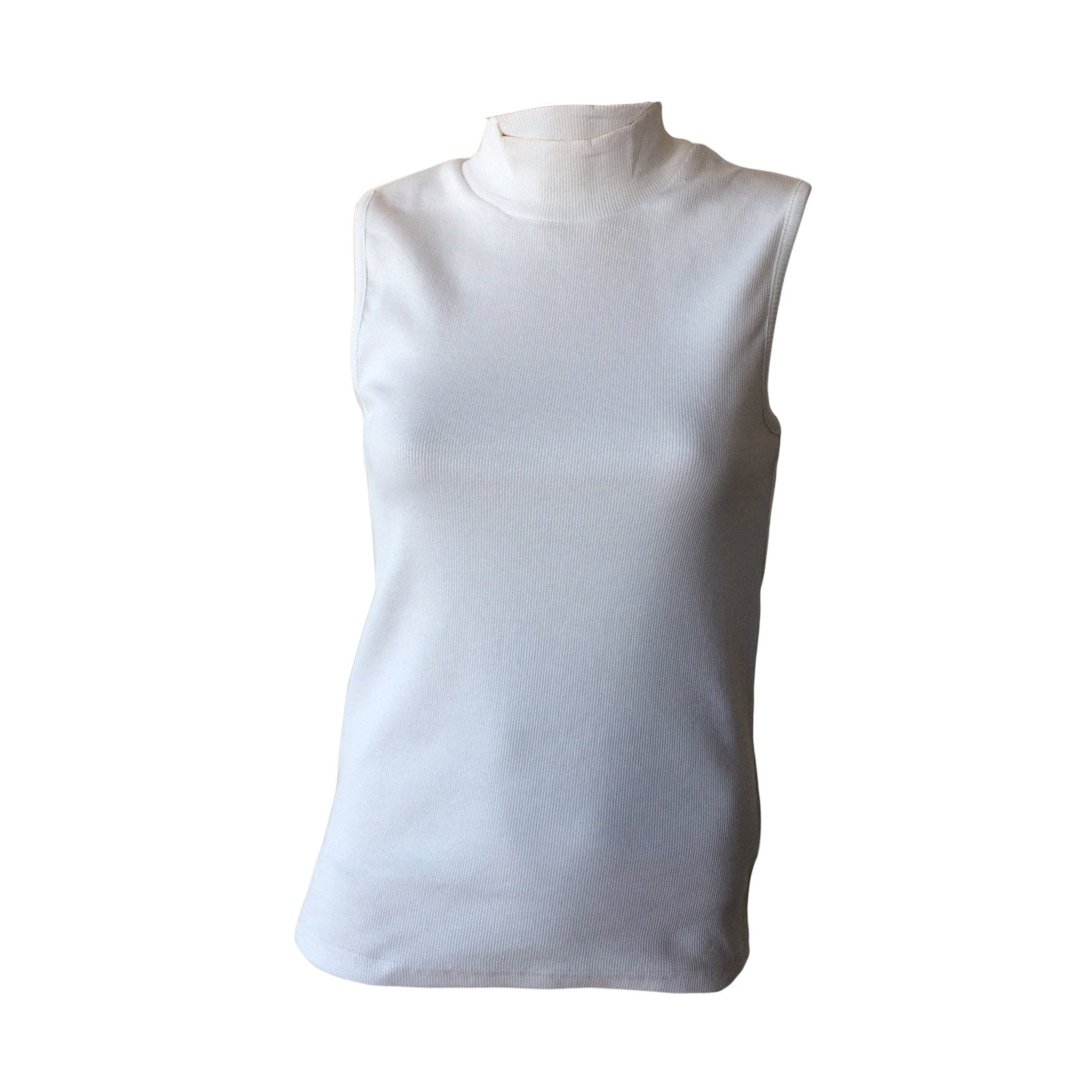 We love this White Turtleneck Tank by Danish designers Grunt.  It