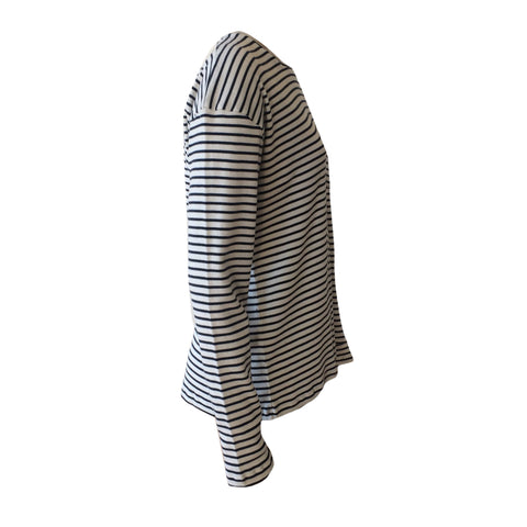 A great long sleeve striped tee by the edgy french brand F.I.T.N.   Simple colour combo, pocket detail and soft cotton feel.