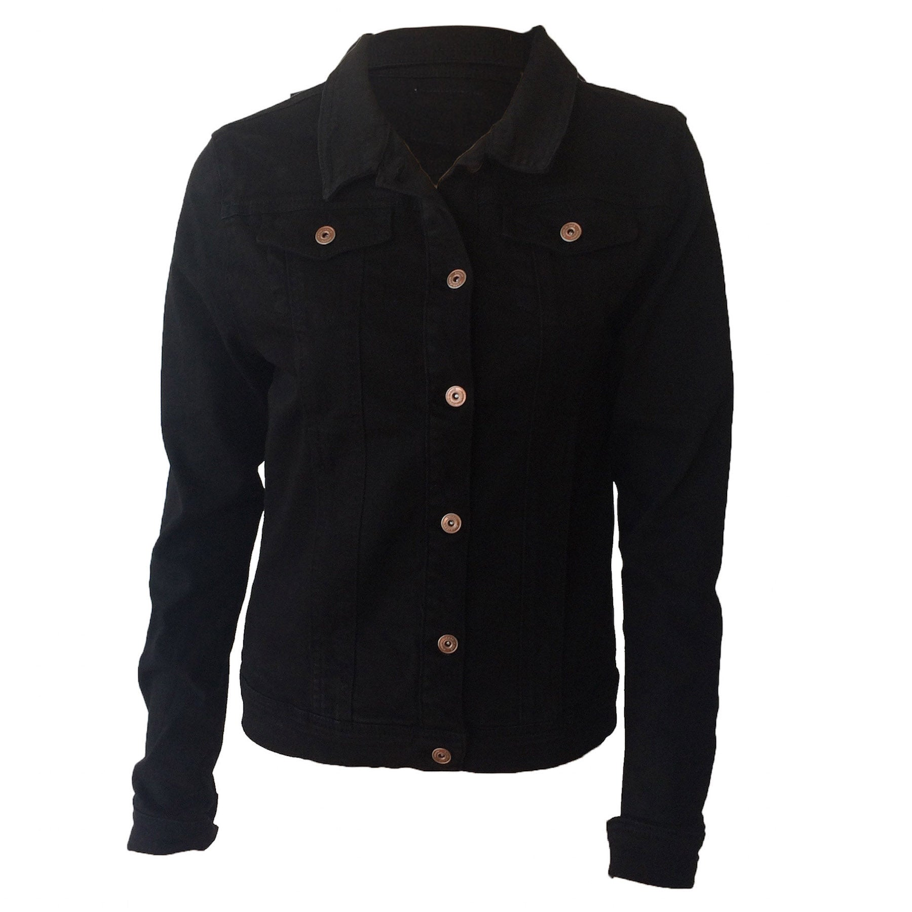 CARS Jeans from Amsterdam, is a super edgy, teen brand focusing on modern design. This black denim jacket is a classic with good stretch and a nice cropped length.