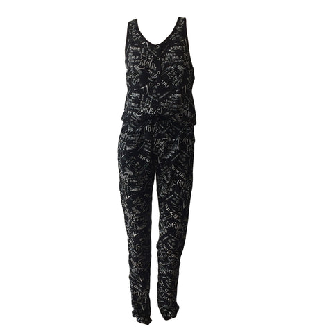 Selly Jumpsuit, black & white jumpsuit, graphic jumpsuit, CARS jeans, teen fashion