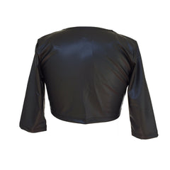 Pleather Cropped Jacket | Cheryl Creations (USA) - SIZE XL ONLY