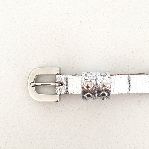 Silver Metallic Belt | Kidzzbelts (Netherlands)