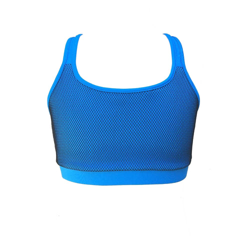 La Cienega Mesh Reversible Sports Bra - Blue | MOD Girl (USA)