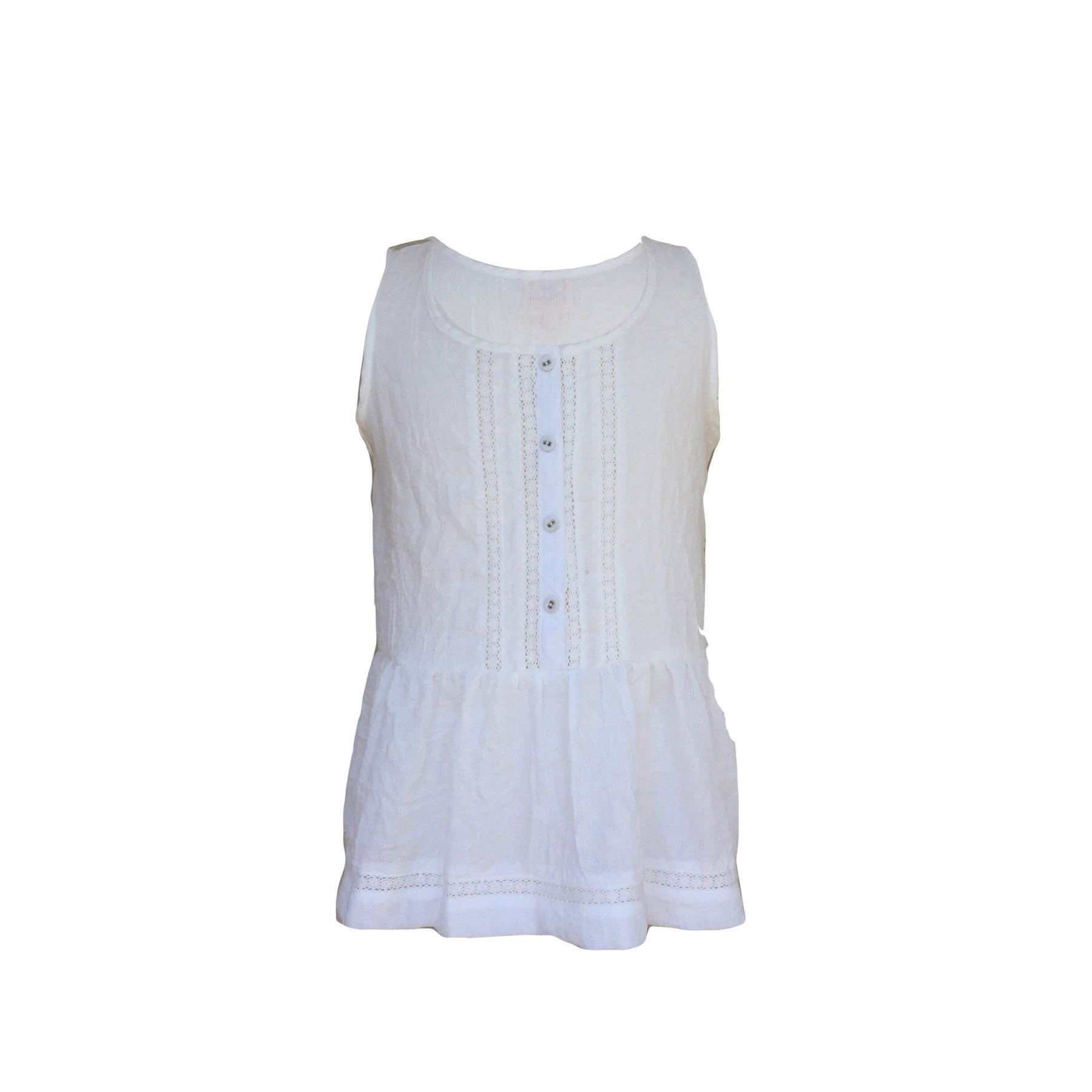 White Button-Up Top | Hayden LA (USA) - SIZE 13/14 ONLY