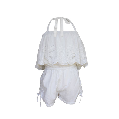 Cream Halterneck Playsuit | Paperwings (AUS) - SIZE 10 ONLY
