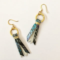 Delta June, Earrings, Teen Earrings, Earrings for Teens, Snakeskin earrings, accessories for teens