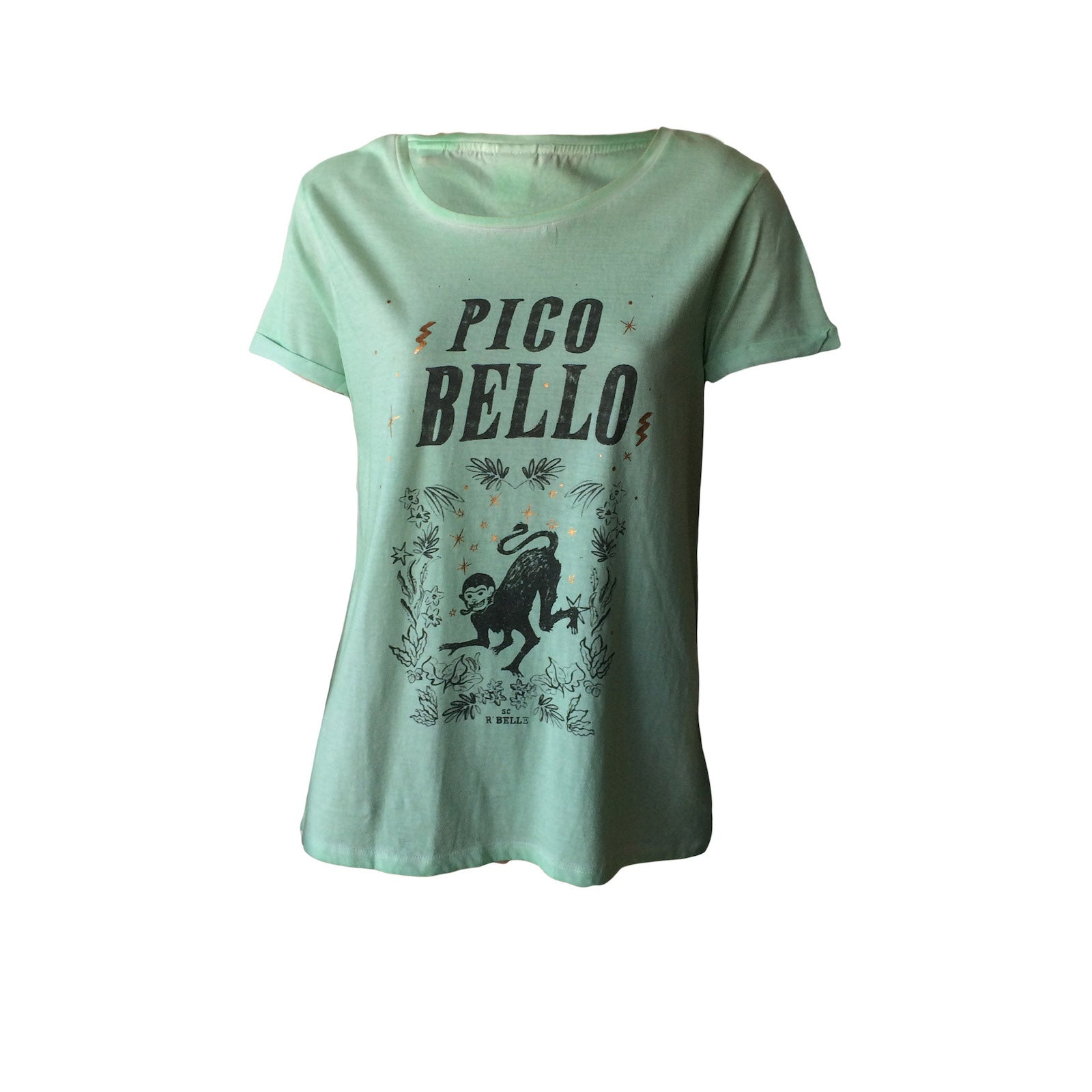 The Pico Bello Tee in pale mint by Scotch R