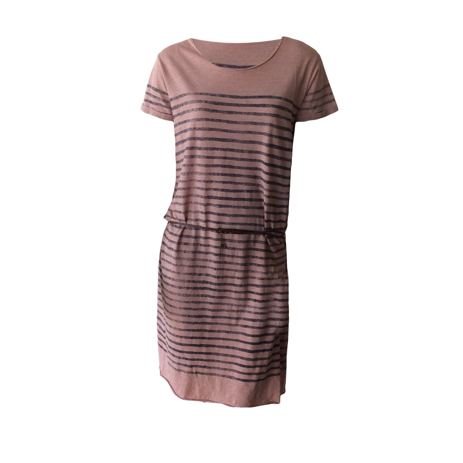 This striped pink glitter jersey dress by Dutch label Scotch R