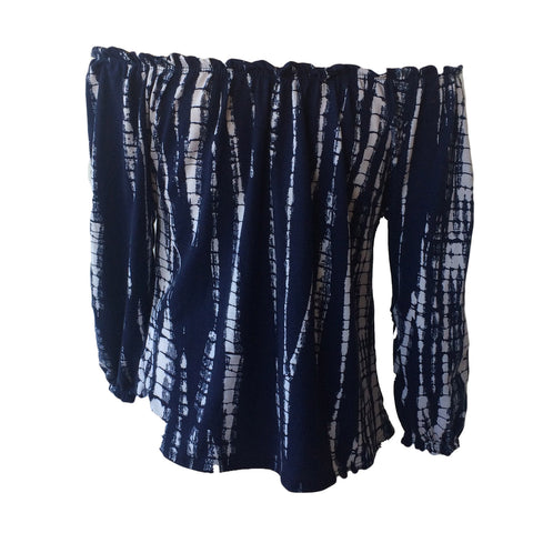 Navy Tie Dye Blouse | Pinc Premium (New York)