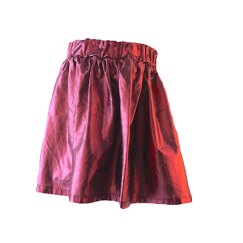 Metallic Grape Mini Skirt | F.I.T.N (France) - SIZE 16 ONLY
