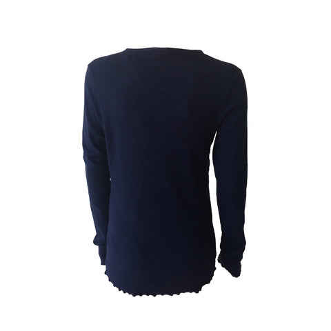 Long Sleeve Navy Grandad Tee | Scotch & Soda (Netherlands)