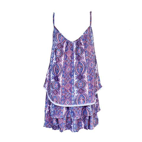 Paisley Blue Twin Set (Top & Skirt) | Bela & Nuni (Australia)