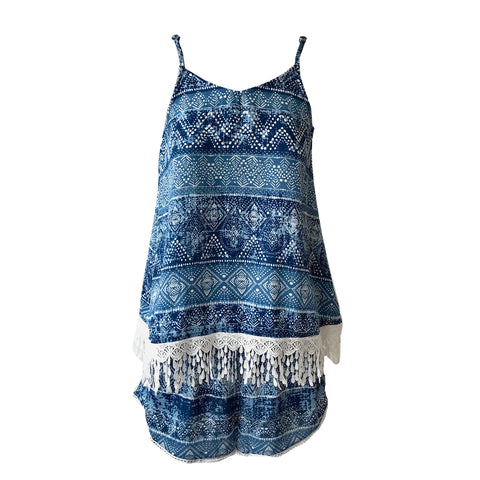 Aztec Blue Twinset | Me.N.U (New York) - SIZE 14/16 ONLY
