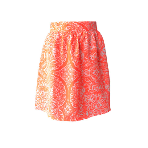 Neon Floral Mosaic Skirt | BOAM (France)