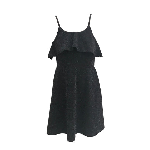 Black Lurex Dress | Cheryl Creations (New York) - SIZE M ONLY