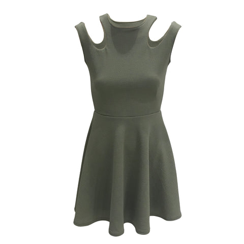 Olive Cut Shoulder Dress | Cheryl Creations (New York)