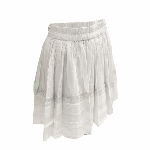 Lace Voile Skirt - White | AO1976 (Belgium)