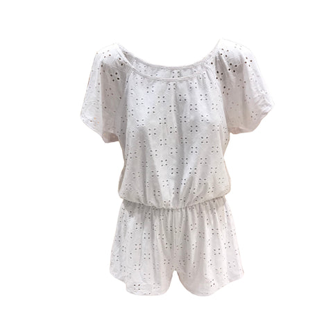 White Off Shoulder Romper | Pinc Premium (USA)