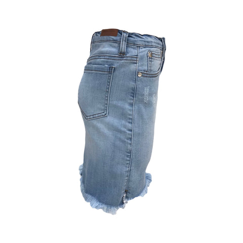 Distressed Denim Skirt | Pinc Premium (NYC)