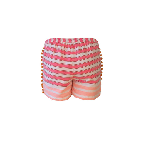 Pink Fringed Beach Shorts | Scotch & Soda (Netherlands) - SIZE 14 ONLY