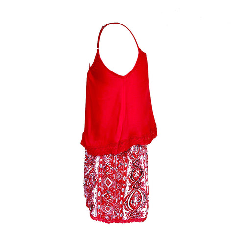 Red Summer Twin Set | Bela & Nuni (Australia) - SIZE 12 ONLY