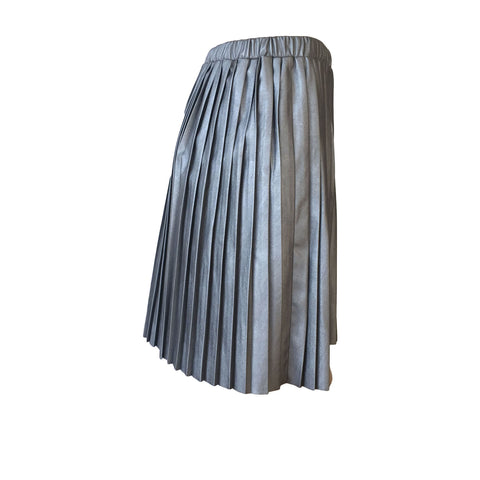 Gun Metal Pleated Skirt | Christina Rohde (Denmark)