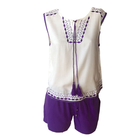 Lilac Twin set, boho twinset, purple shorts, haute hits, teen fashion