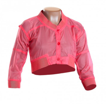 Cropped Jacket in Coral | Fun + Fun (Italy)