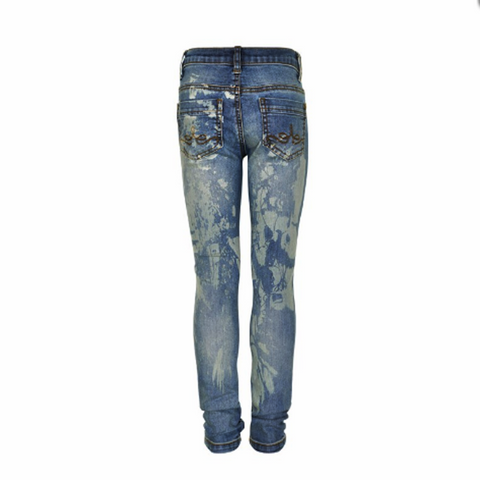 Evelyn Splatter Jeans, Paint Jeans, Blue & White Jeans, Creamie, Teen Fashion